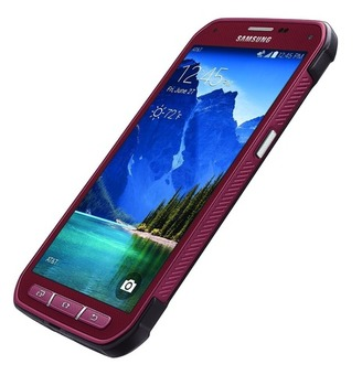 At&t Unlocked Samsung Galaxy S5 Active Near Mint (RUBY RED)